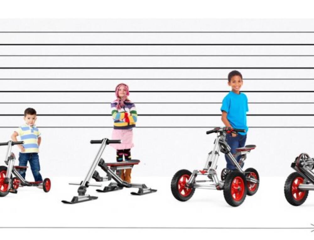 Bicicletas para crianças com perfis de aluminio